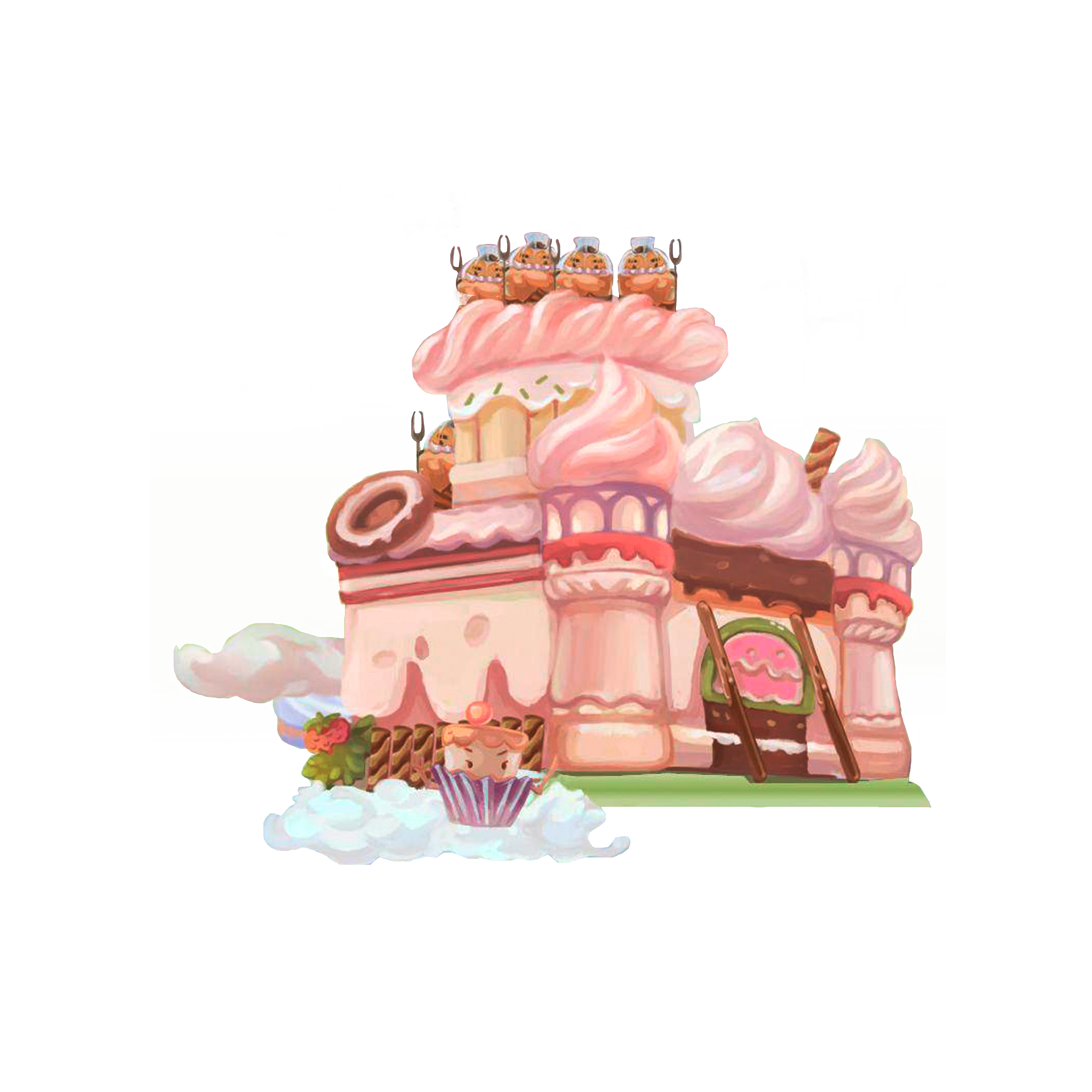 Free clipart hansel & gretel eating candy house graphic royalty free library Castle Cartoon Hansel and Gretel Illustration - Dream Castle 5000 ... graphic royalty free library