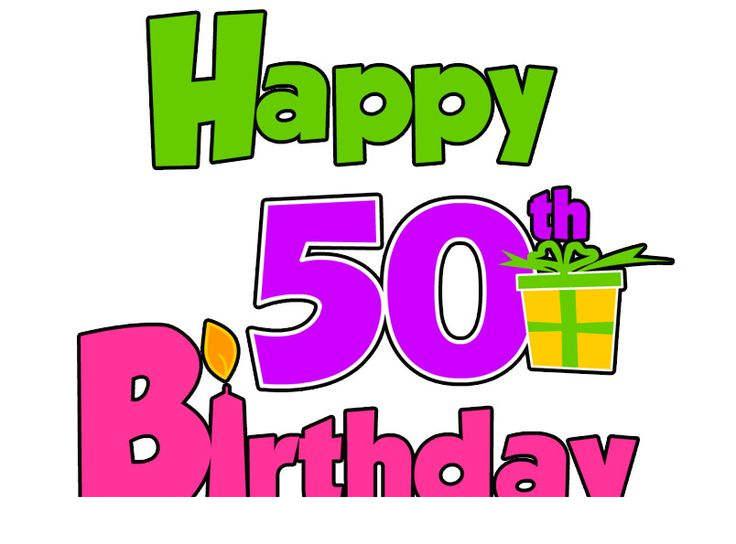 Free clipart happy 50th birthday clipart stock Happy 50th Birthday Clipart Ltdngrc - Clipart1001 - Free Cliparts clipart stock