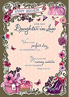 Free clipart happy birthday daughter in law clipart freeuse stock Amazon.com : Daughter-in-Law Birthday, Birthday Card : Office Products clipart freeuse stock