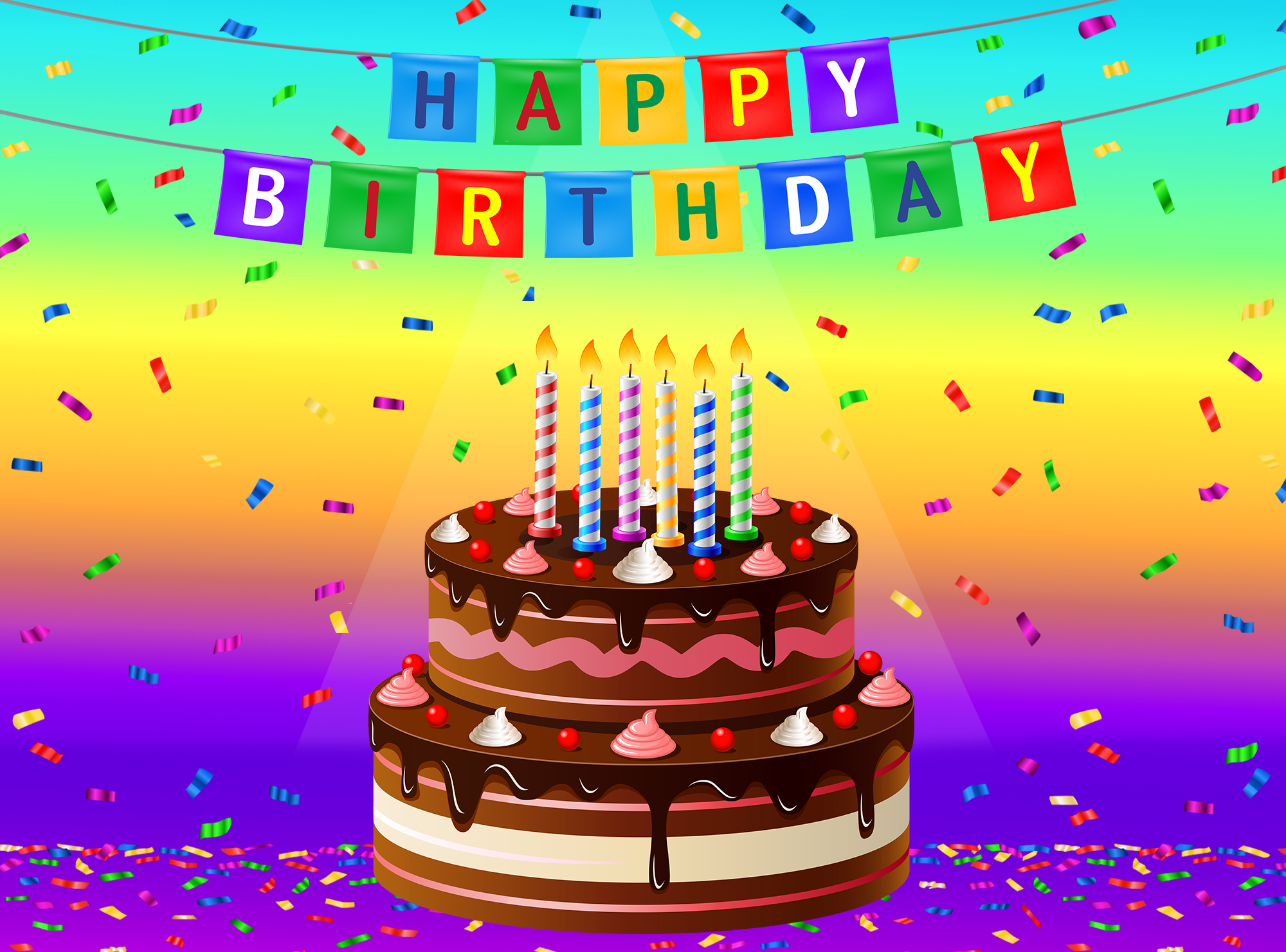 Free clipart happy birthday greetings. Greeting card with cake