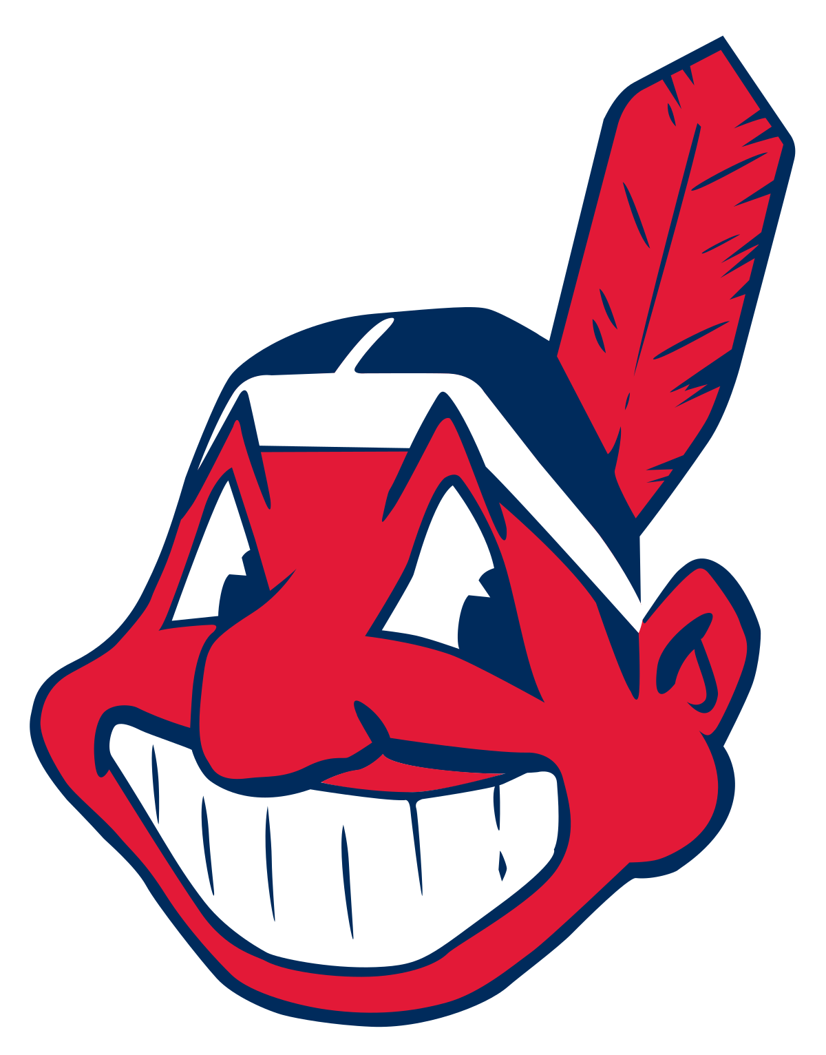 Free clipart happy birthday indians baseball happy birthday picture transparent Chief Wahoo - Wikipedia picture transparent