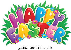 Free clipart happy easter clipart stock Happy Easter Clip Art - Royalty Free - GoGraph clipart stock