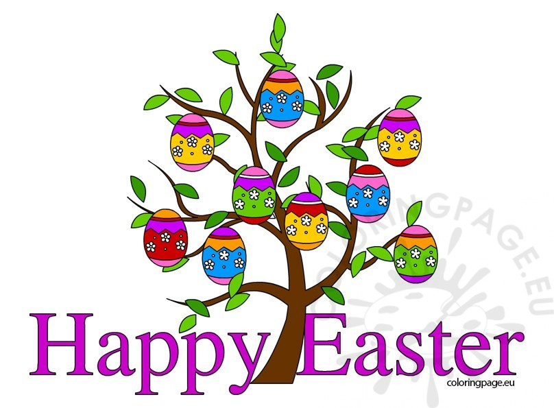 Free clipart happy easter graphic free library Happy Easter clip art free – Coloring Page graphic free library