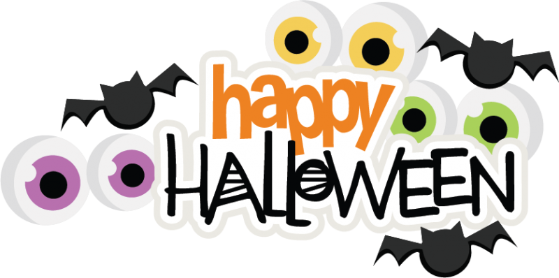 Happy halloween words clipart picture transparent library Happy Halloween SVG scrapbook title spiderweb svg cut file halloween ... picture transparent library