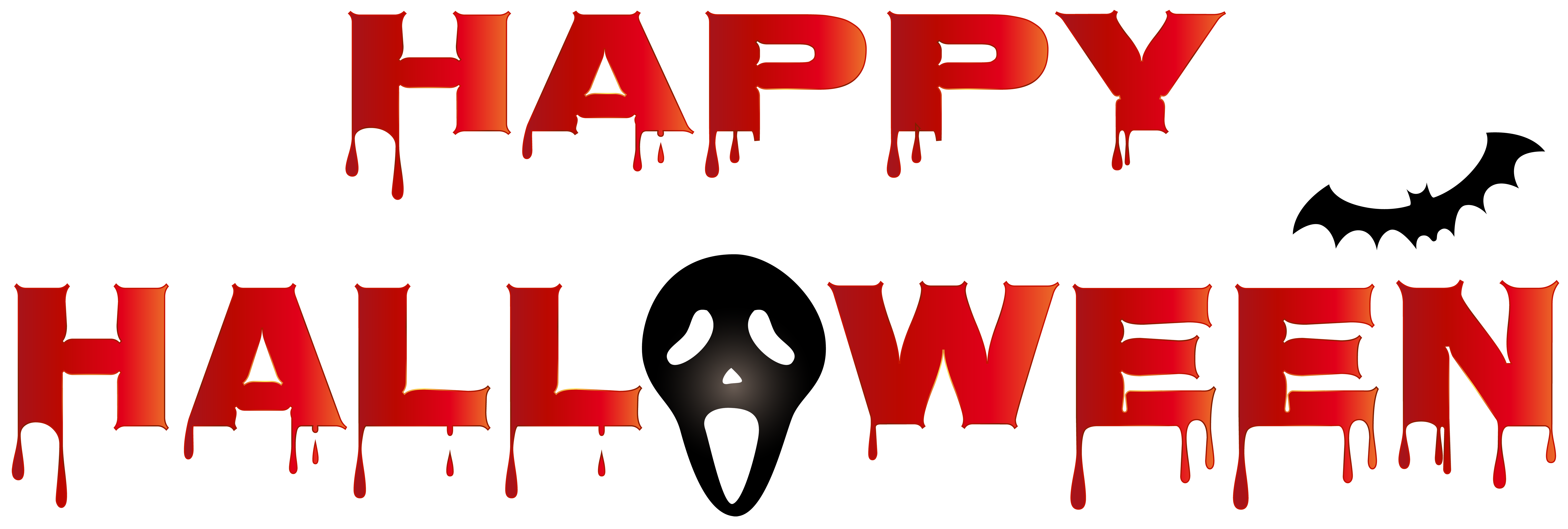 Happy halloween clipart font png library stock Bloody Happy Halloween PNG Clip Art | Gallery Yopriceville - High ... png library stock