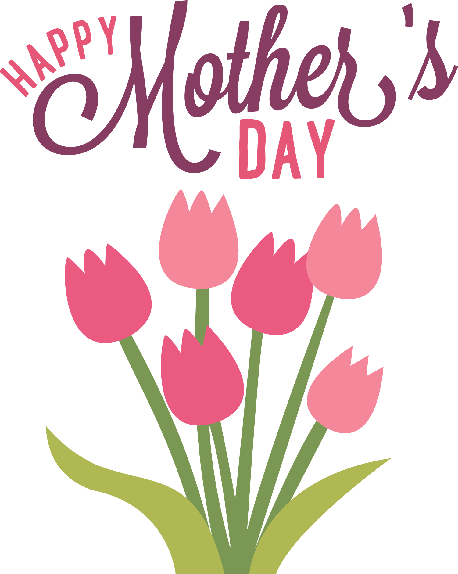Transparant happy mothers day clipart