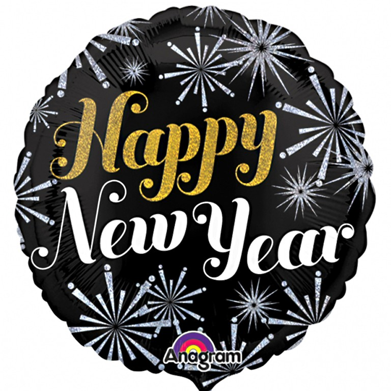 Free clipart happy new year in england banner free Happy New Year Balloon banner free