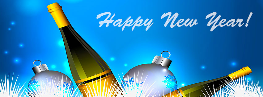 Free clipart happy new year my facebook friends banner free Free New Year Facebook Covers - Clipart - Timeline - Images - 2020 banner free