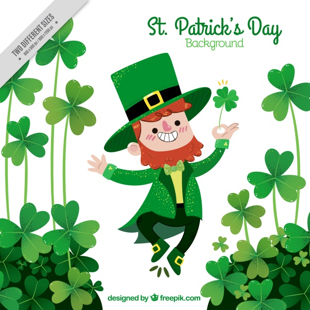Free clipart happy st patrick s day free stock Happy st. patrick\'s day elf background Vector | Free Download free stock