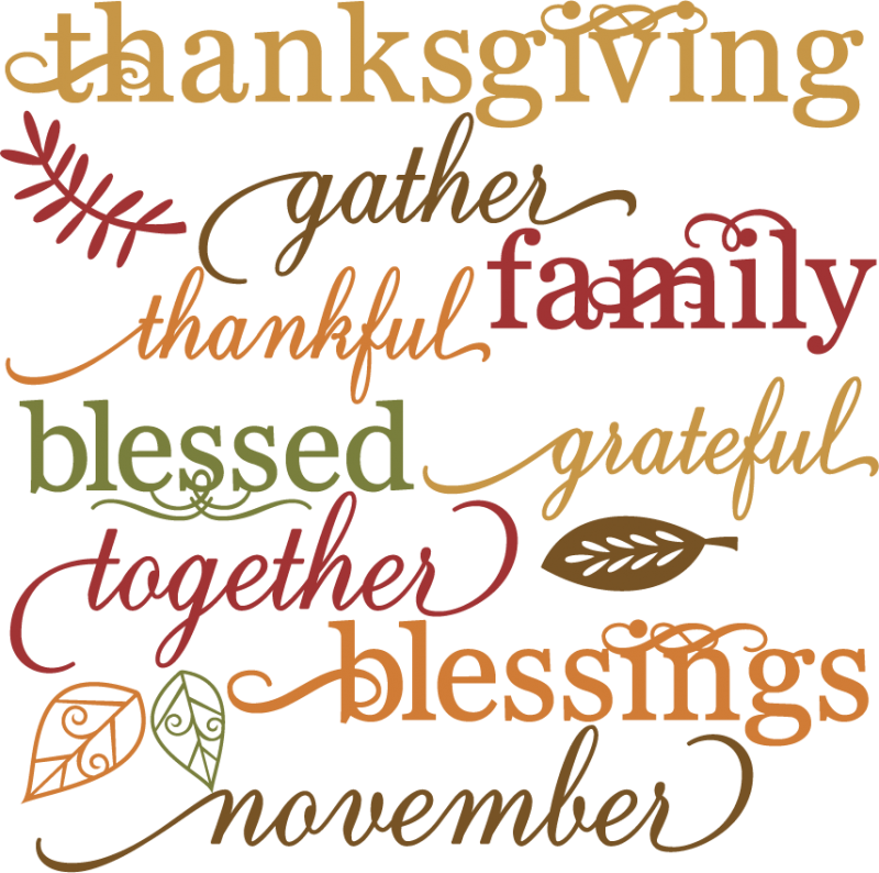 Thanksgiving clipart blessings