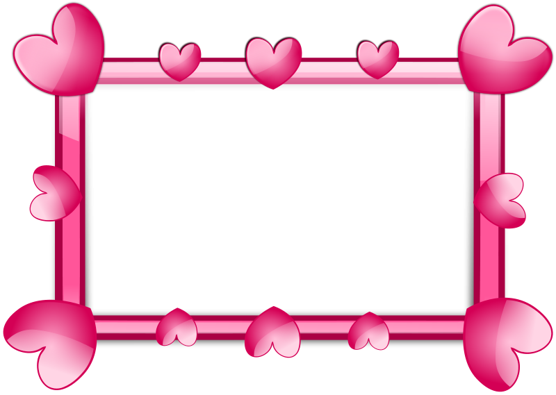 Free clipart heart borders freeuse download Frame Hearts | Free Stock Photo | A blank frame border with pink ... freeuse download