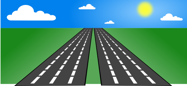 Free clipart highway picture royalty free download Open Road Clip Art at Clker.com - vector clip art online, royalty ... picture royalty free download