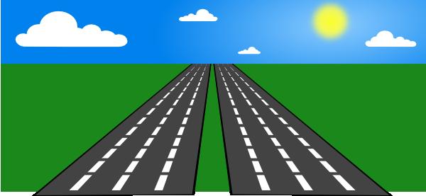 Free clipart highway. Open road clip art