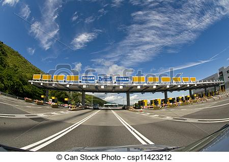Toll booth panda images. Free clipart highway