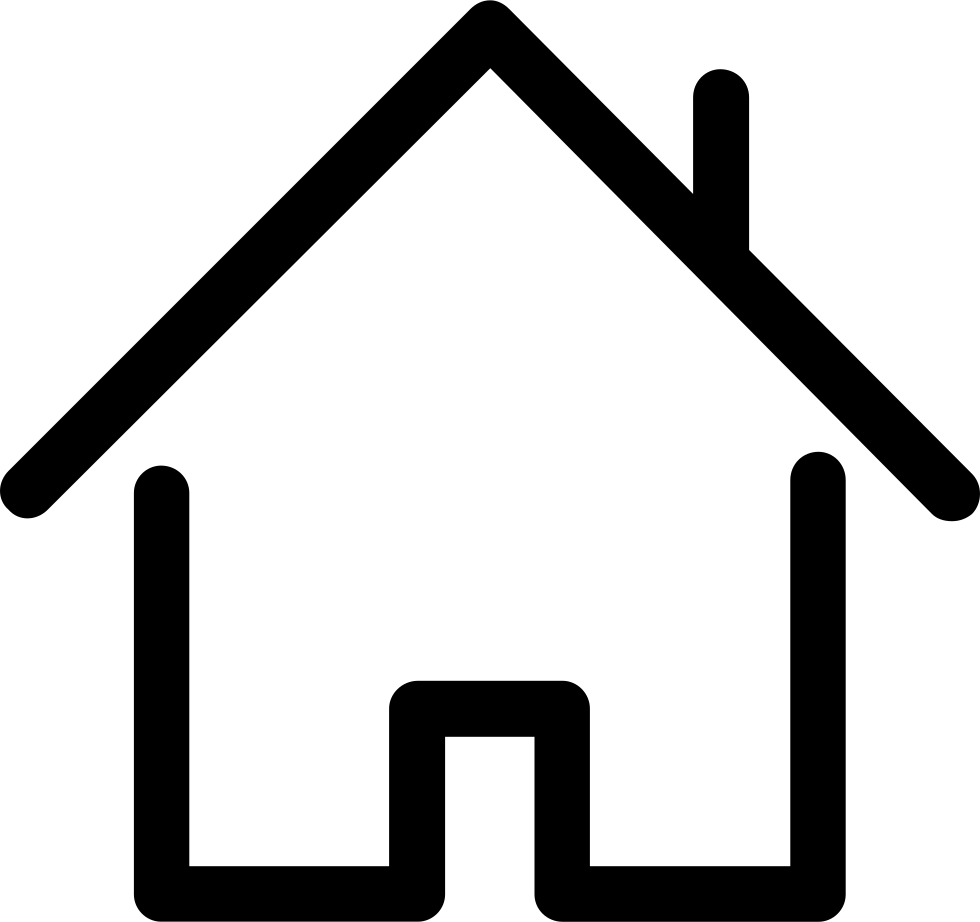 House outline clipart black and white jpg transparent House Outline Svg Png Icon Free Download (#67289, out line house ... jpg transparent