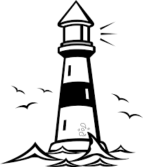 Lighthouse google search light. Free clipart house painting black and white