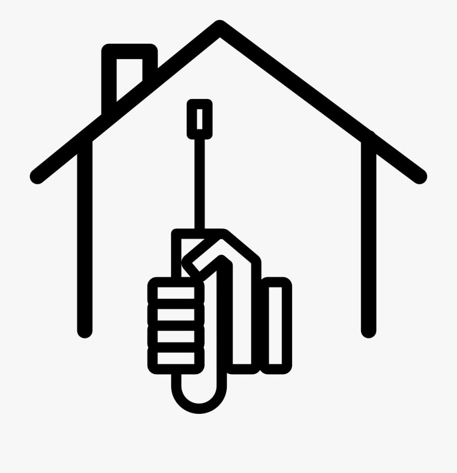 Outline png home icon. Free clipart house painting black and white