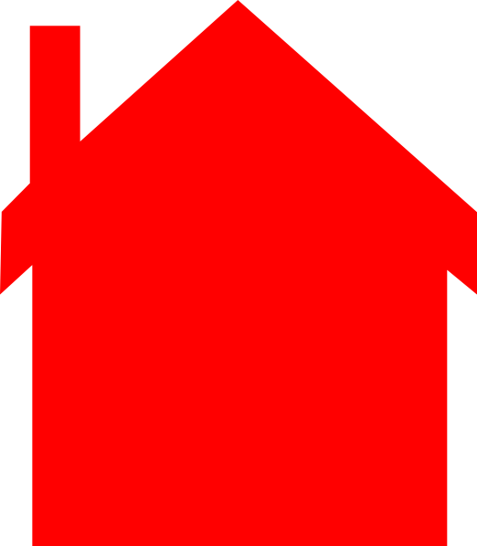 Hull house clipart vector transparent stock Red House Silhouette Clip Art at Clker.com - vector clip art online ... vector transparent stock
