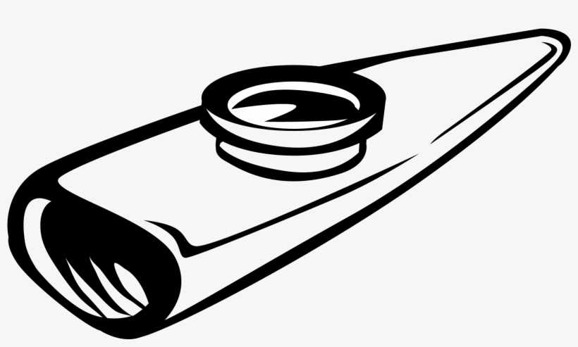 Free clipart image of a blue kazoo picture black and white download Kazoo - Kazoo Clipart Black And White Transparent PNG - 2112x1452 ... picture black and white download