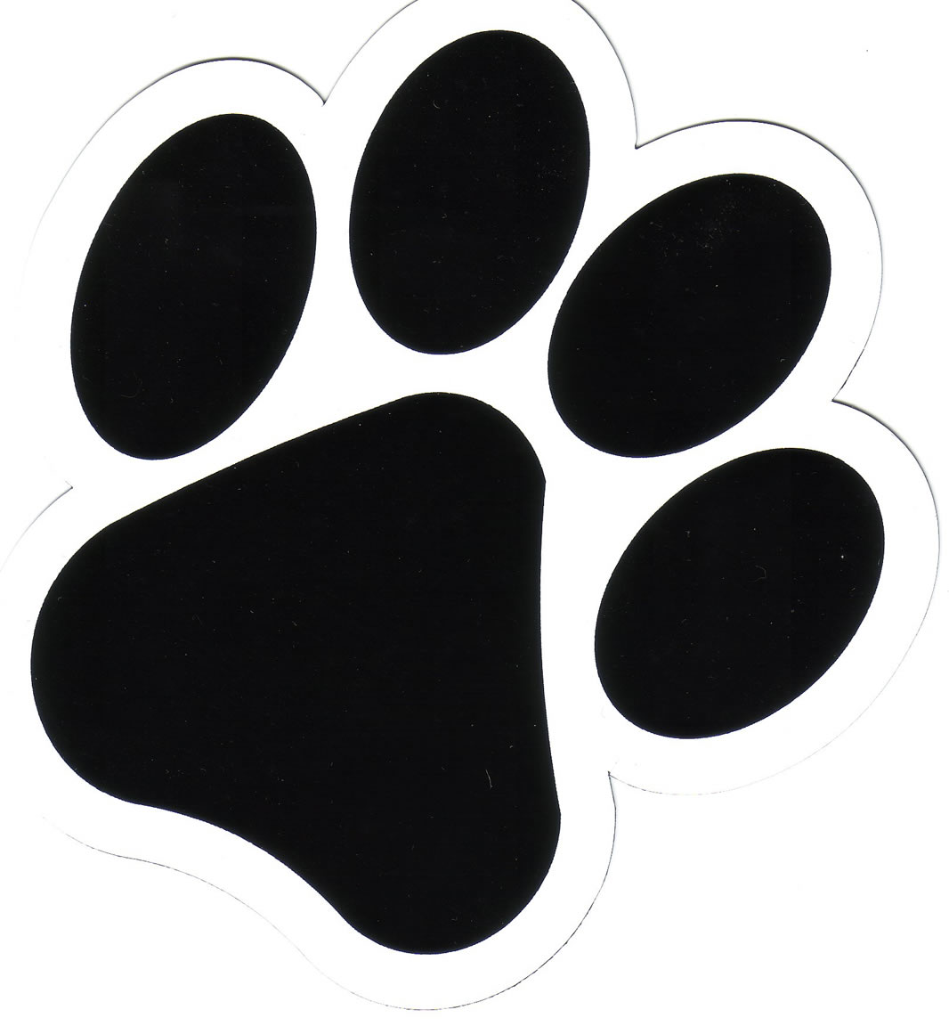 Free clipart image of a paw print. Dog download clip art