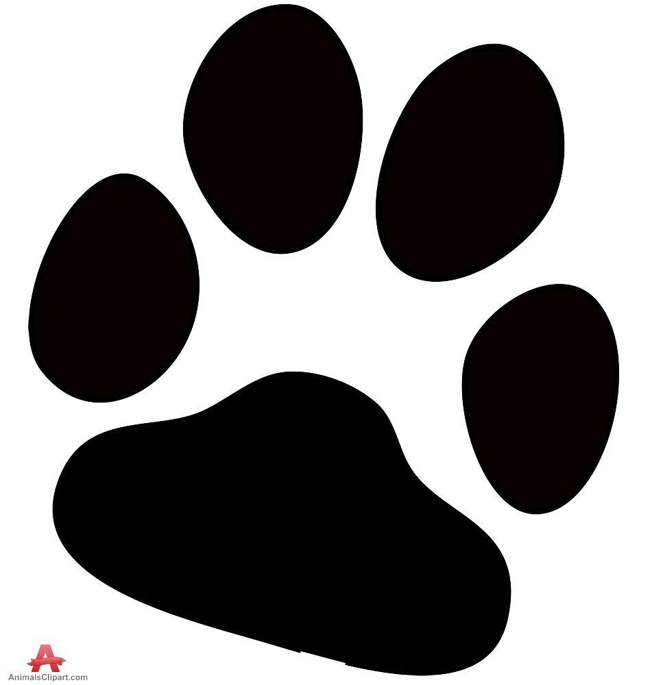 Dog prints design transparent. Free clipart image of a paw print