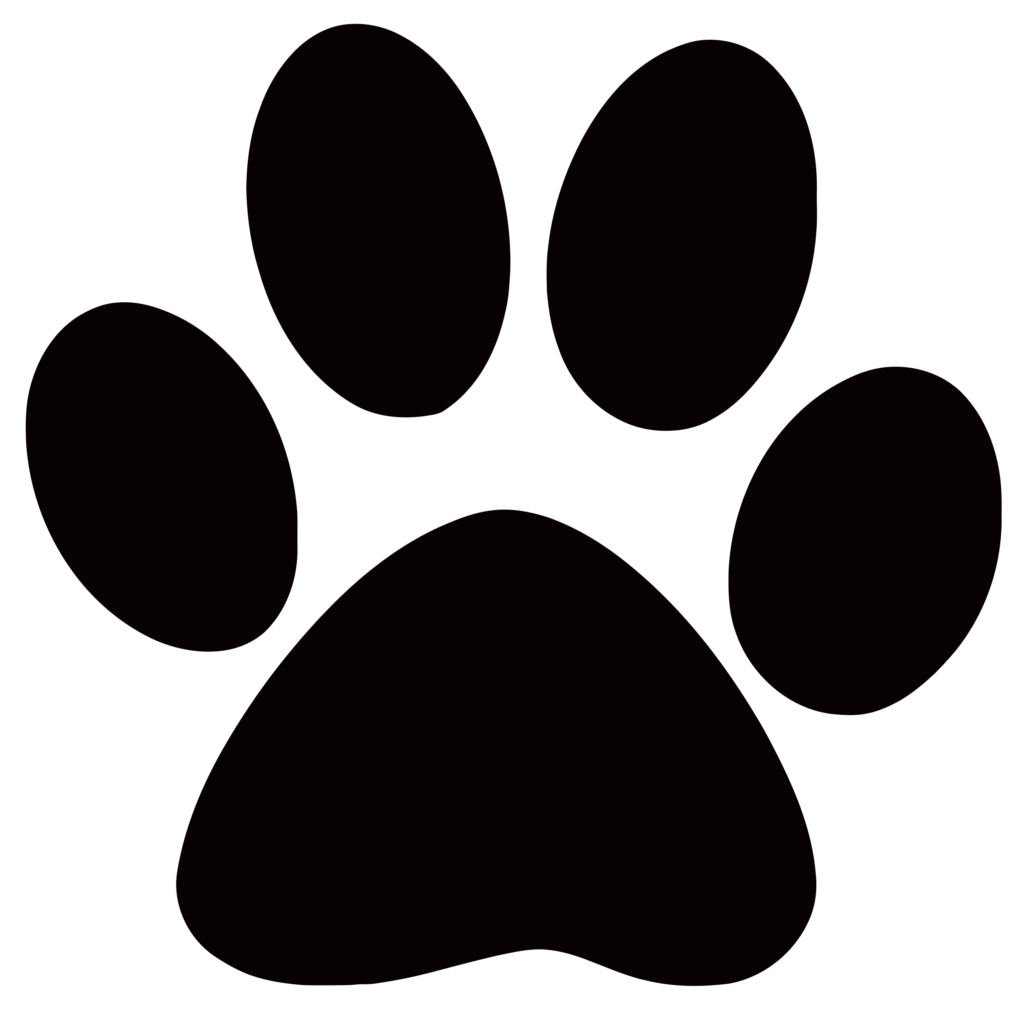 Coloring phenomenal patrol collection. Free clipart image of a paw print