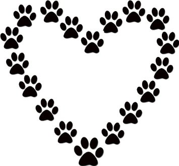 Free clipart image of a paw print. Dog clip art panda