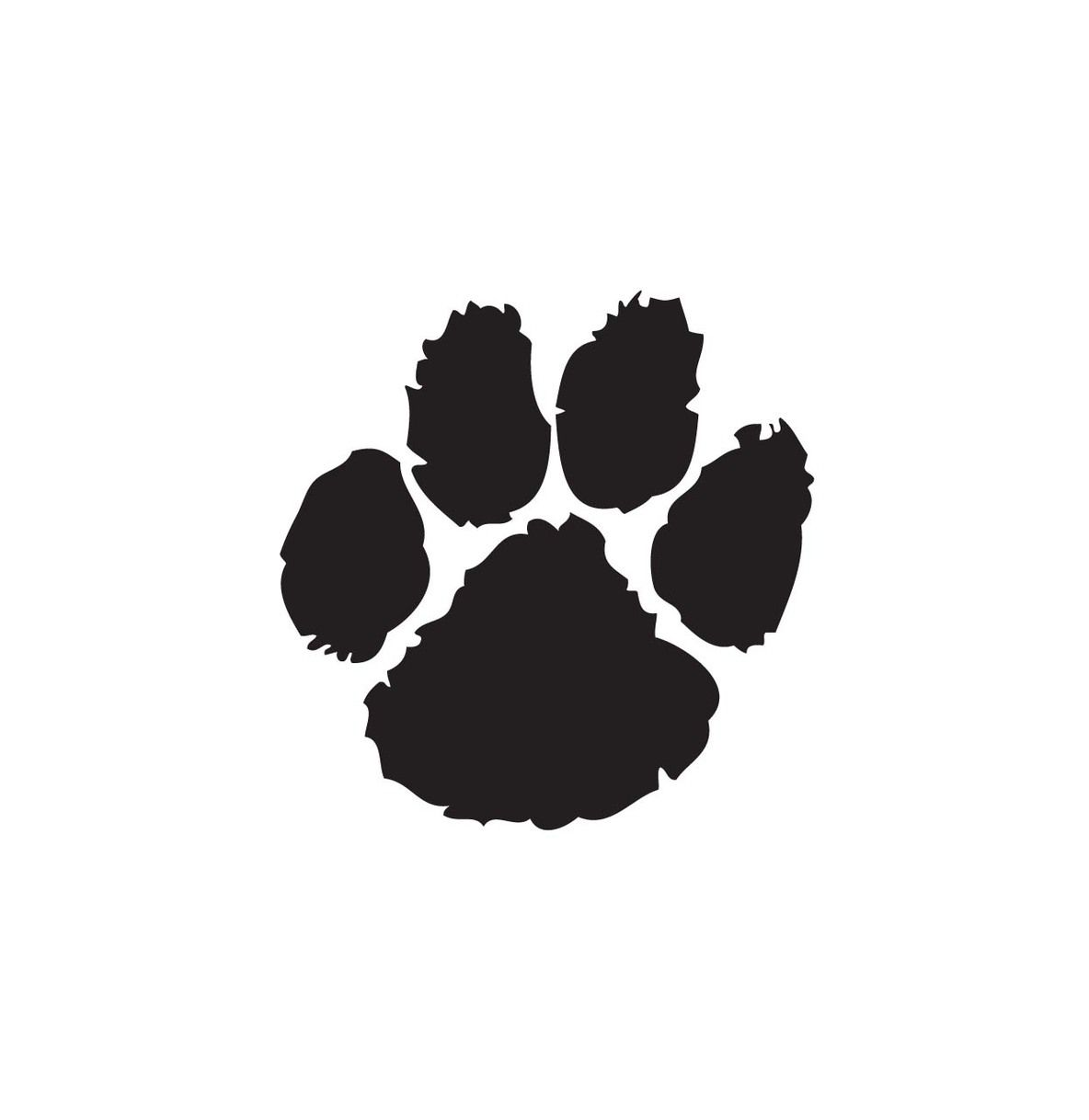 Husky to use clip. Free clipart image of a paw print