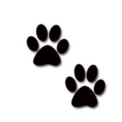 Free clipart image of a paw print. Dog clip art download