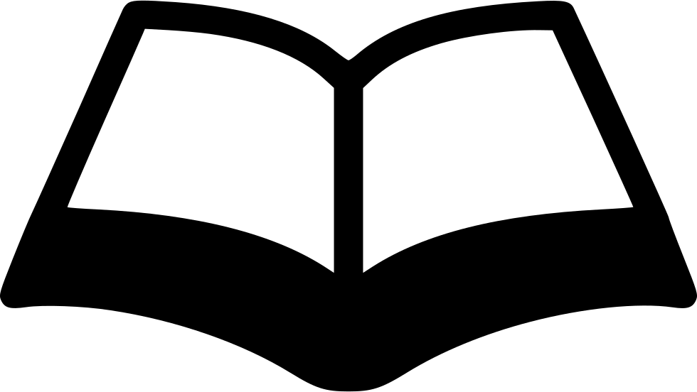 Free clipart image of open book black and white black and white library Open Book Svg Png Icon Free Download (#469998) - OnlineWebFonts.COM black and white library
