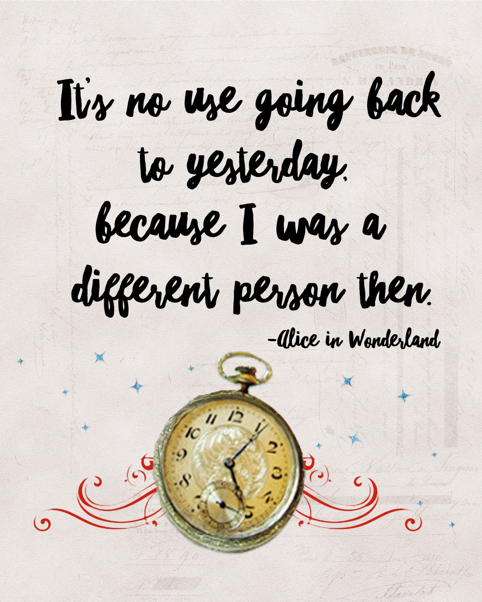 Alice in wonderland quote. Free clipart image quotes power of desire