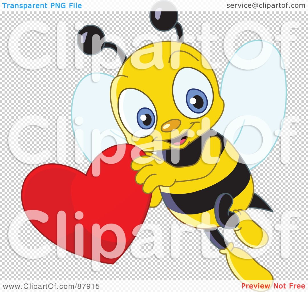 Free clipart images bees hearts clip library library Royalty-Free (RF) Clipart Illustration of a Cute Bee Flying With A ... clip library library