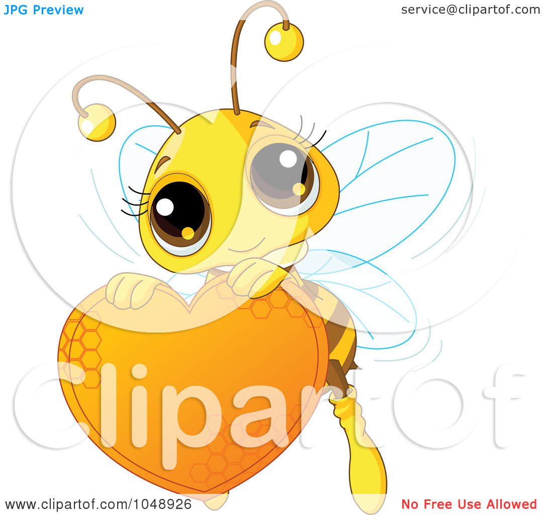 Free clipart images bees hearts graphic royalty free library Royalty-Free (RF) Clip Art Illustration of a Cute Bee Holding A ... graphic royalty free library