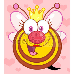 Free clipart images bees hearts svg black and white stock Royalty-Free 5588 Royalty Free Clip Art Happy Queen Bee Cartoon ... svg black and white stock