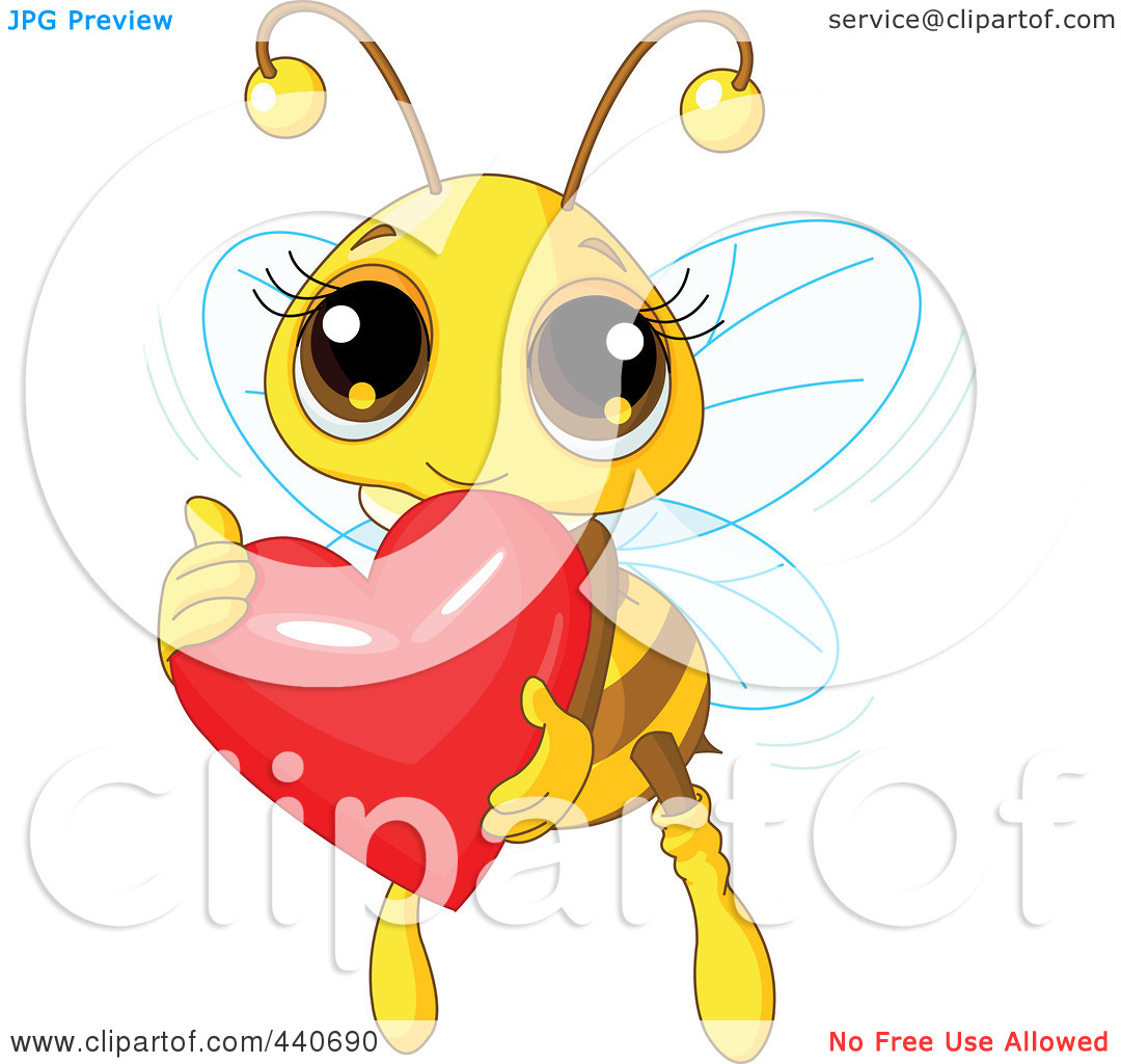 Free clipart images bees hearts image transparent download Royalty-Free (RF) Clip Art Illustration of a Cute Bee Holding A ... image transparent download