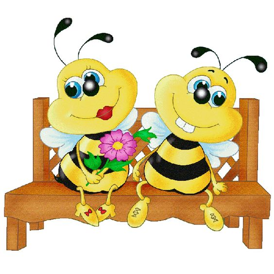 Free clipart images bees hearts image stock Valentine Love Bees - Honey Bee Free Images | Bees | Pinterest ... image stock