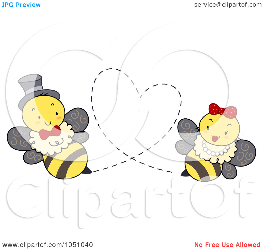 Free clipart images bees hearts picture library library Royalty-Free Vector Clip Art Illustration of a Bee Couple Forming ... picture library library