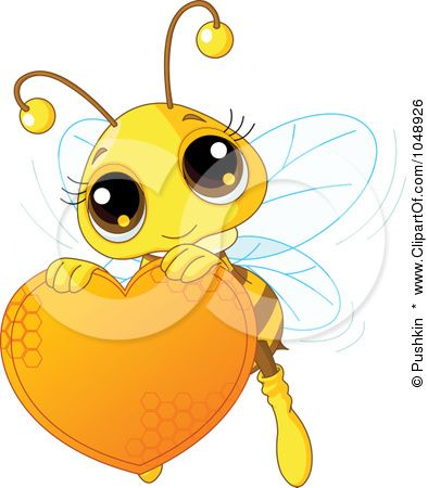 Free clipart images bees hearts jpg download Royalty-Free (RF) Clip Art Illustration of a Cute Bee Holding A ... jpg download