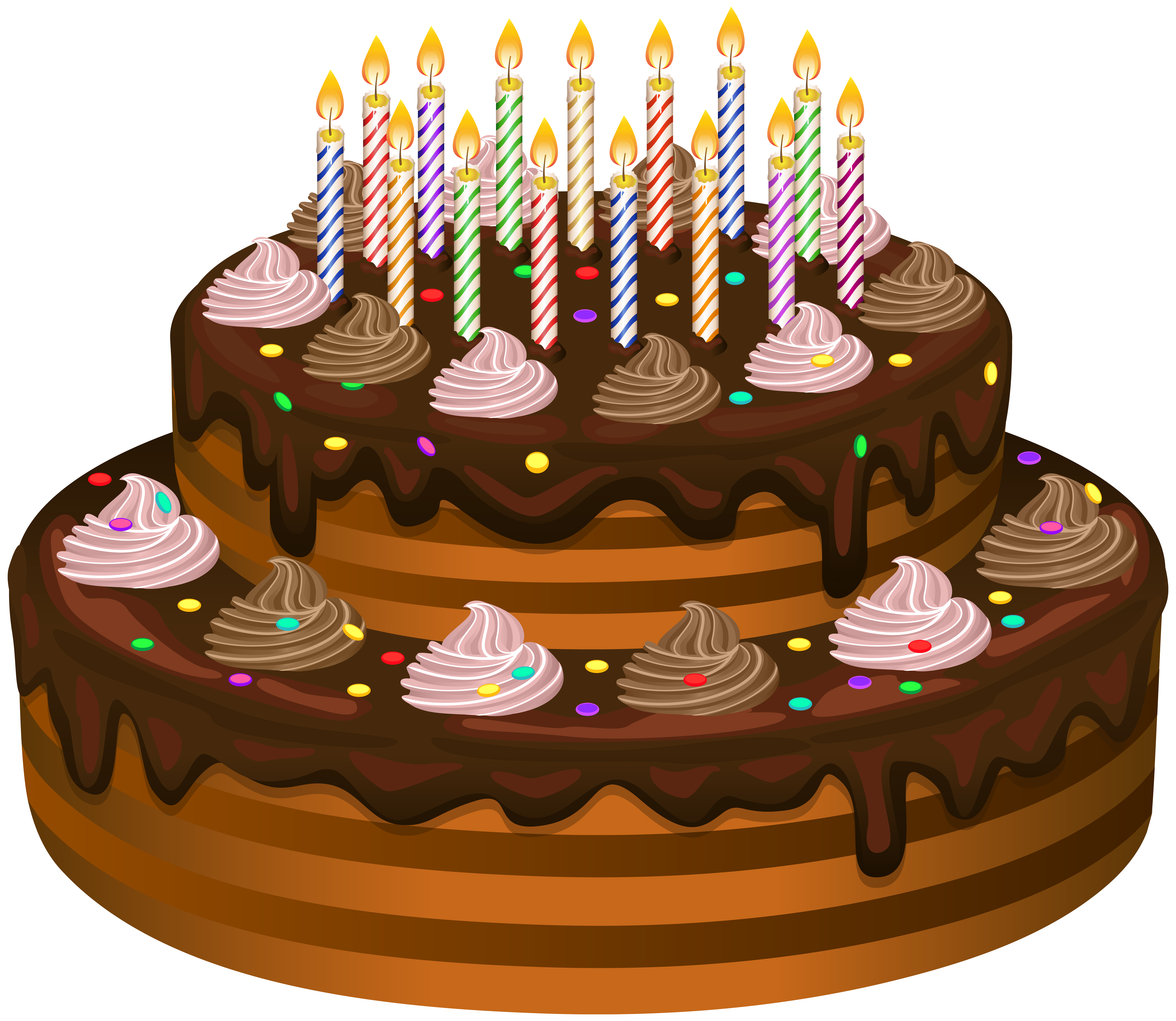Free clipart images birthday cake picture freeuse download Birthday Cake Transparent Clip Art   Gallery Yopriceville - High ... picture freeuse download