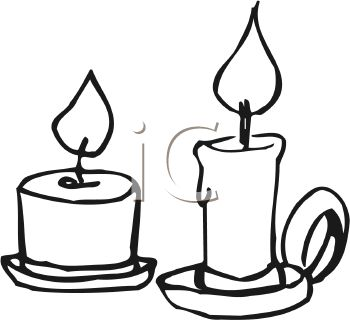 Panda . Free clipart images black and white candle