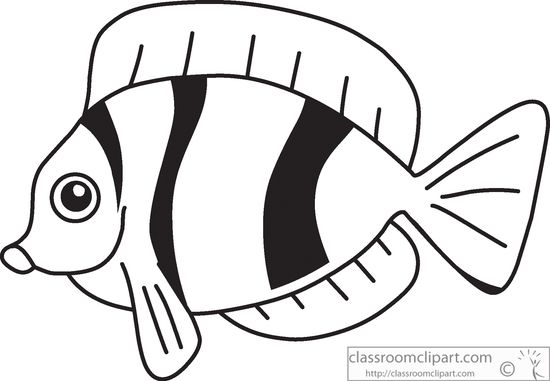Free clipart images black and white fish graphic stock Fish black and white tropical fish clip art free - WikiClipArt graphic stock