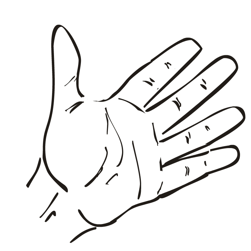 Touch clipart black and white