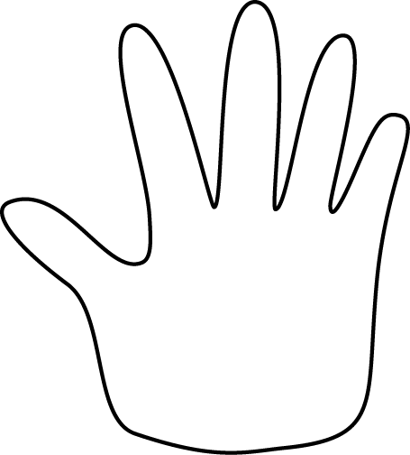 Free clipart images black and white hand picture library download Hand Outline Clip Art Image | school worsheets | Hand outline ... picture library download