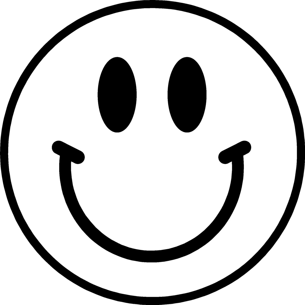 Happy face transparent background. Free clipart images black and white smiley