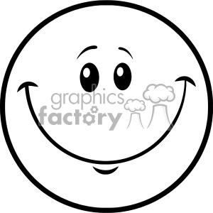Face cartoon character vector. Free clipart images black and white smiley