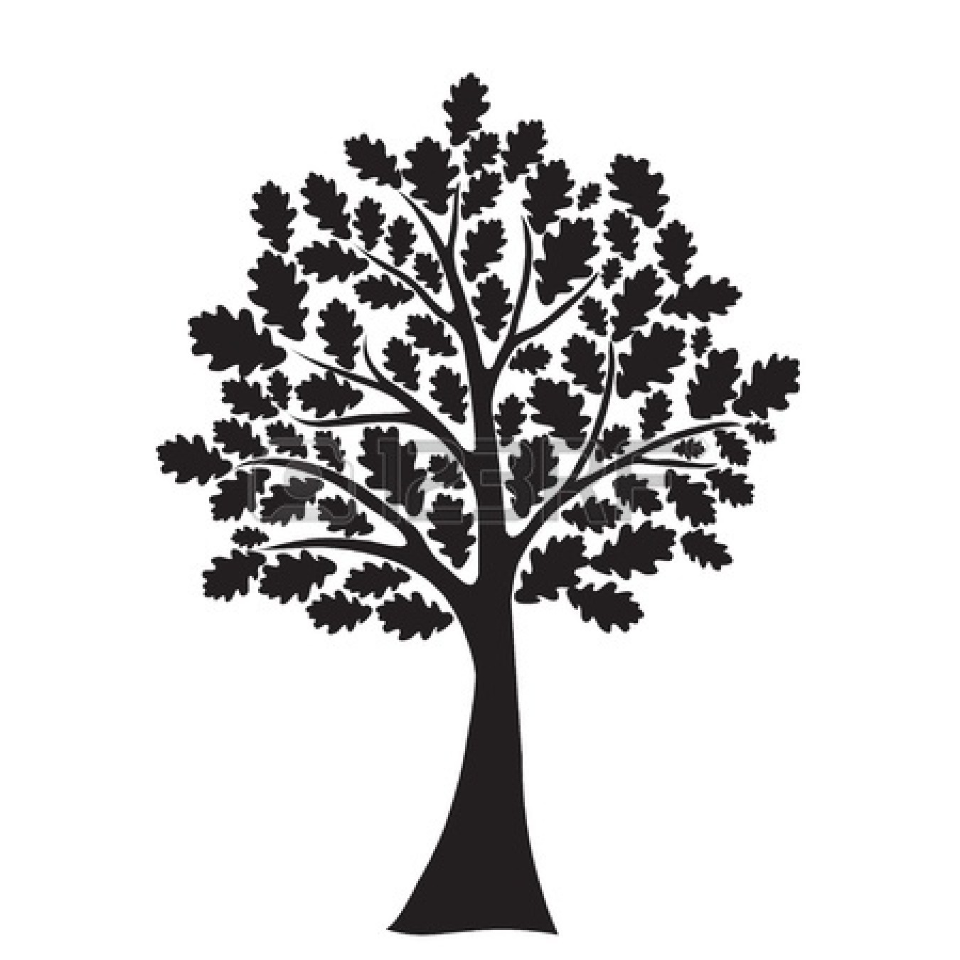 Free clipart images black and white tree graphic black and white library Best Tree Clipart Black And White #18966 - Clipartion.com graphic black and white library