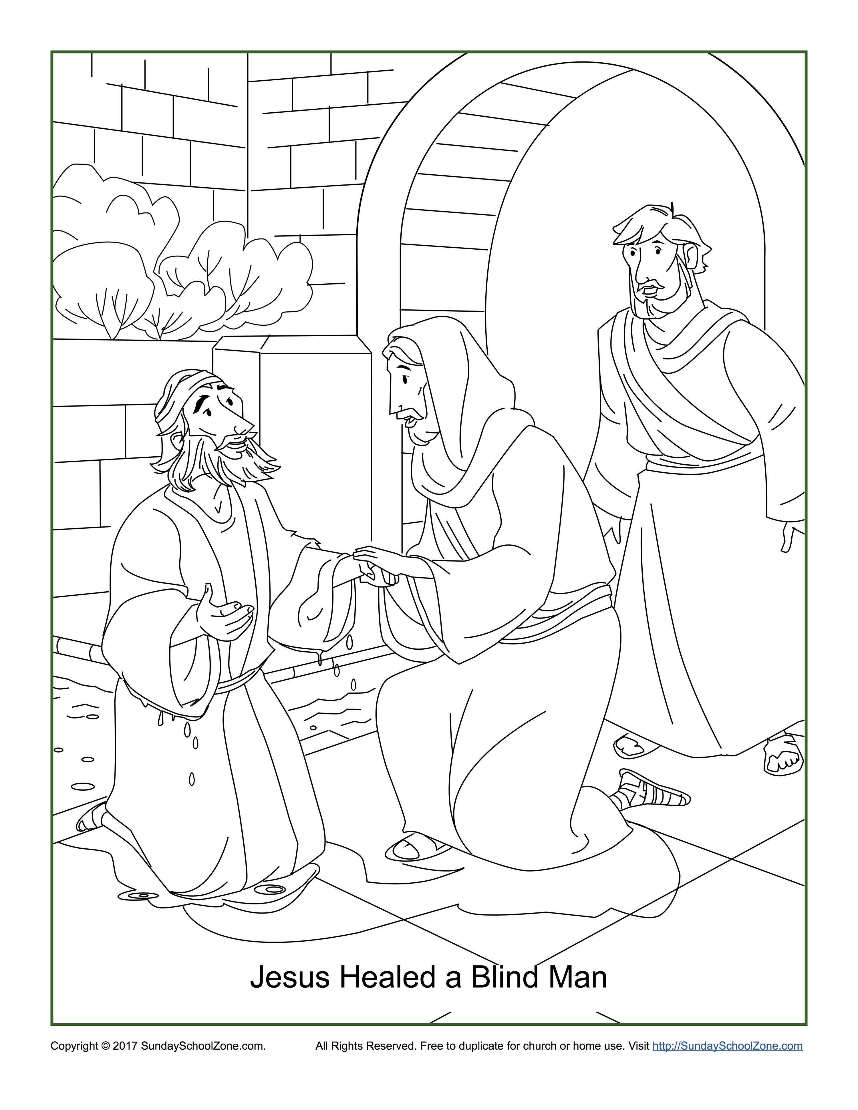 Free clipart images blind man of john 9 picture library download Jesus Healed a Blind Man Coloring Page John 9:1-7 | Jesus Healed a ... picture library download
