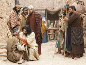 Free clipart images blind man of john 9 jpg freeuse download Jesus heals a man born blind free visuals A blind man healed by ... jpg freeuse download