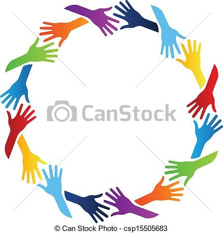 Free clipart images community clipart freeuse download Vector - Community Hands Circle - stock illustration, royalty free ... clipart freeuse download