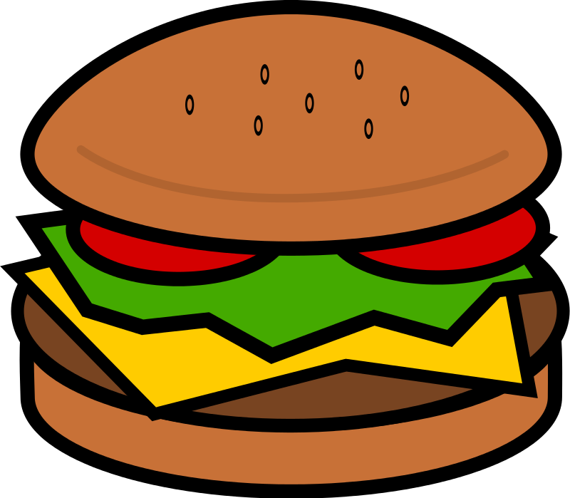 Free to use clipart for commercial use svg download Image of Cheeseburger Clipart #6275, Hamburger Clip Art Images Free ... svg download